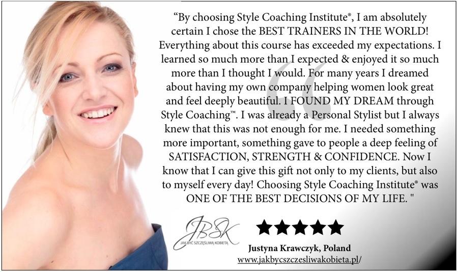 Certyfikat Style Coaching Institute w Londynie